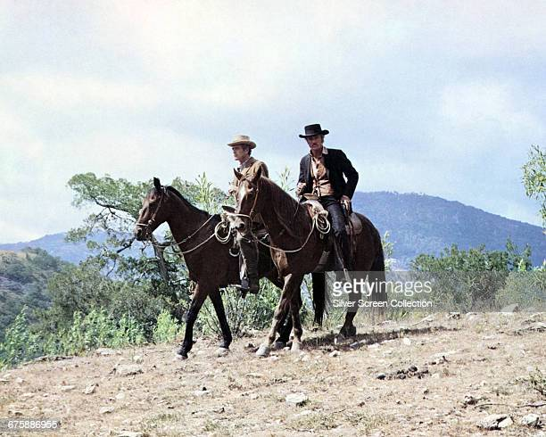 Actors Paul Newman as Butch Cassidy and Robert Redford as The Sundance Kid in a still from the film 'Butch Cassidy and the Sundance Kid' 1969