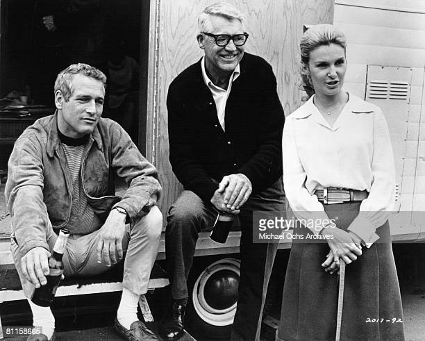 actors Paul Newman Cary Grant and Joanne Woodward