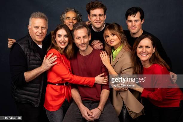 Actors Paul Reiser Alison Brie John Ortiz director Jeff Baena John Reynolds Debby Ryan Jake Picking and Molly Shannon from 'Horse Girl' are...