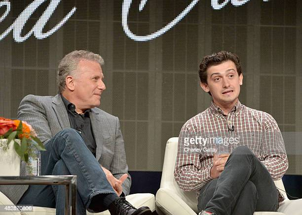 Actors Paul Reiser and Craig Roberts speak onstage during the 'Red Oaks' panel discussion at the Amazon Studios portion of the 2015 Summer TCA Tour...