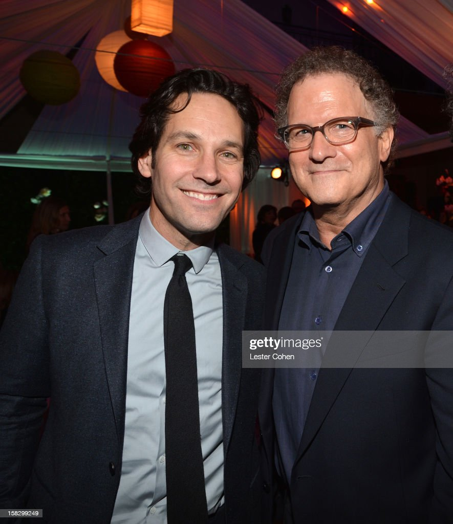 Actors Paul Rudd and Albert Brooks attend 'This Is 40' - Los Angeles Premiere - After Party at Grauman's Chinese Theatre on December 12, 2012 in Hollywood, California.