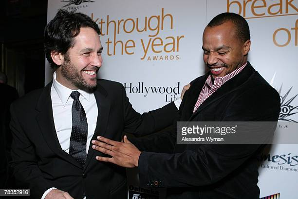 HOLLYWOOD DECEMBER 09 Actors Paul Rudd and Donald Faison at the 7th annual Hollywood Life Breakthrough of the Year Awards at the Music Box at the...