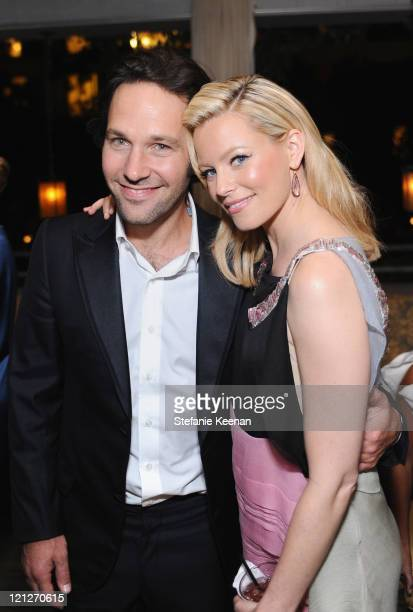 Actors Paul Rudd and Elizabeth Banks attend the premiere of Our Idiot Brother after party hosted by The Weinstein Company and Ron Burkle held at...