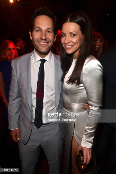 Actors Paul Rudd and Evangeline Lilly attend the Los Angeles Global Premiere for Marvel Studios' 'AntMan And The Wasp' at the El Capitan Theatre on...