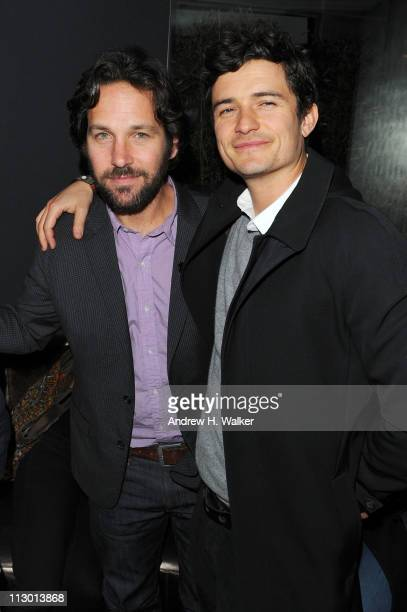 Actors Paul Rudd and Orlando Bloom attend the Tribeca Film Festival afterparty for The Good Doctor hosted by Stolichnaya Vodka at The W Hotel New...