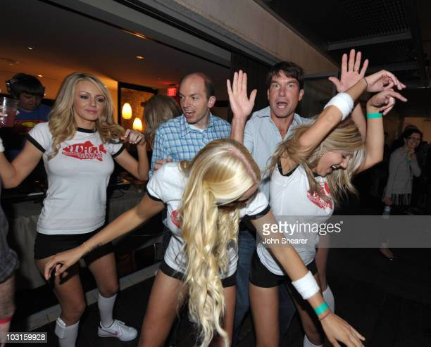 Actors Paul Scheer and Jerry O'Connell and the Wild Wild Girls attend the Pirahna 3D Too Hot For ComicCon party sponsored by Real D 3D and Svedka...