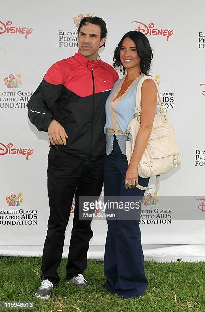 Actors Paul Schneider and Olivia Munn arrive for The 22nd Annual Elizabeth Glaser Pediatric AIDS Foundation Benefit at Wadsworth Theater on June 12...