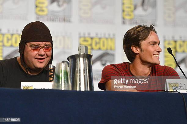 Actors Paul Schrier and Alex Heartman attend Power Rangers 20 Years and Beyond during ComicCon International 2012 held at the Hilton San Diego...
