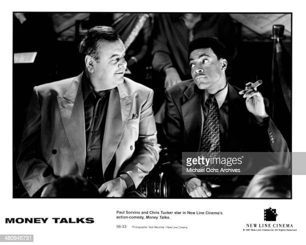 Actors Paul Sorvino and Chris Tucker in a scene from the movie 'Money Talks ' circa 1997