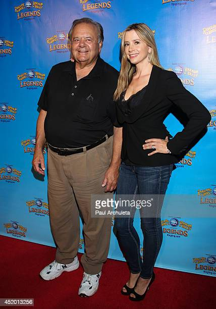 Actors Paul Sorvino and Mira Sorvino attend the Ringling Bros and Barnum Bailey's 'Legends' premiere at Staples Center on July 10 2014 in Los Angeles...