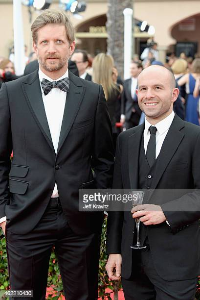 Actors Paul Sparks and Anatol Yusef attend the 21st Annual Screen Actors Guild Awards at The Shrine Auditorium on January 25 2015 in Los Angeles...