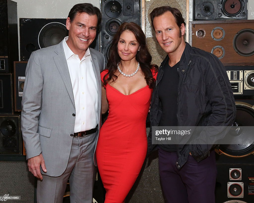 Actors Paul Wilson, Ashley Judd, and Patrick Wilson attend a photocall for 'Big Stone Gap' at Ace Hotel on September 24, 2015 in New York City.