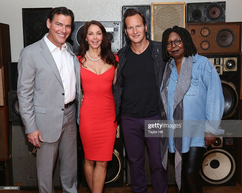 Actors Paul Wilson, Ashley Judd, Patrick Wilson, and Whoopi Goldberg attend a photocall for 'Big Stone Gap' at Ace Hotel on September 24, 2015 in New York City.