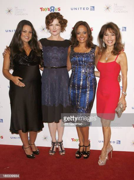 Actors Paula Garces Rebecca Wisocky Judy Reyes and Susan Lucci attend the 2013 Orphaned Starfish Foundation gala at Cipriani Wall Street on October...