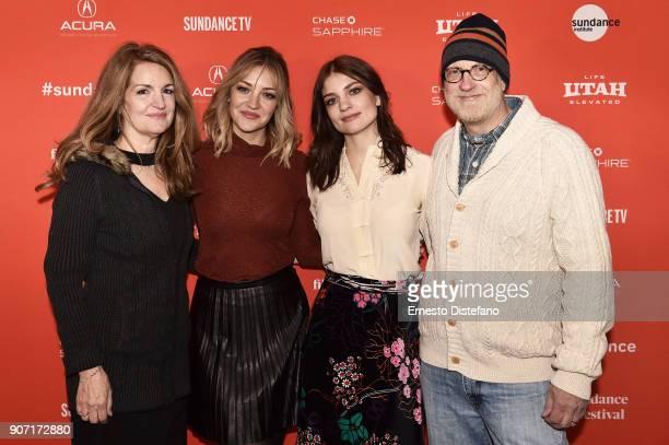 Actors Paula Niedert Elliott Abby Elliott Bridey Elliott and Chris Elliott attend the 'Clara's Ghost' Premiere during the 2018 Sundance Film Festival...