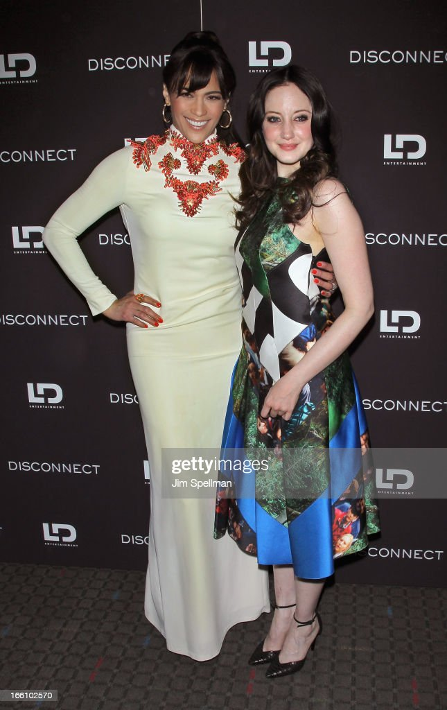 Actors Paula Patton and Andrea Riseborough attend 'Disconnect' New York Special Screening at SVA Theater on April 8, 2013 in New York City.