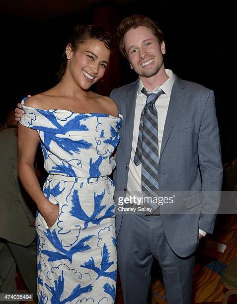 Actors Paula Patton and Tyler Ritter attend The Marriott Content Studio's French Kiss film premiere at the Marina del Rey Marriott on May 19 2015 in...