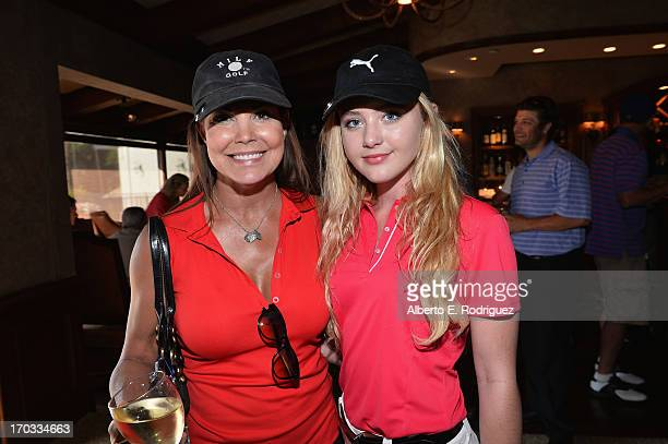Actors Paula Trickey and Kathryn Newton attend the Screen Actors Guild Foundation 4th Annual Los Angeles Golf Classic at Lakeside Golf Club on June...
