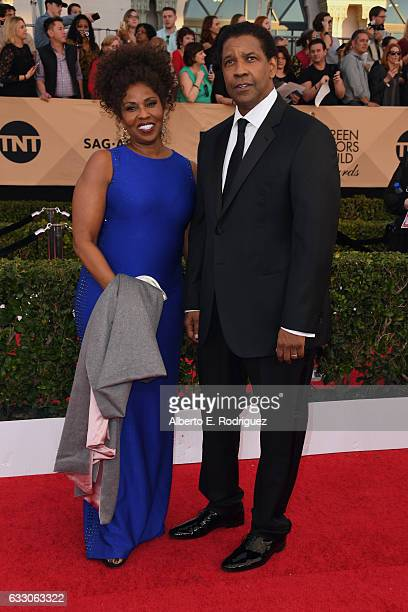 Actors Pauletta Washington and Denzel Washington attend the 23rd Annual Screen Actors Guild Awards at The Shrine Expo Hall on January 29 2017 in Los...