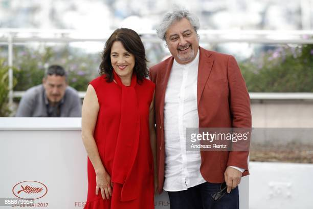 Actors Paulina Garcia and Claudio Rissi attend the 'La Fiancee du Desert' Photocall during the 70th annual Cannes Film Festival at Palais des...