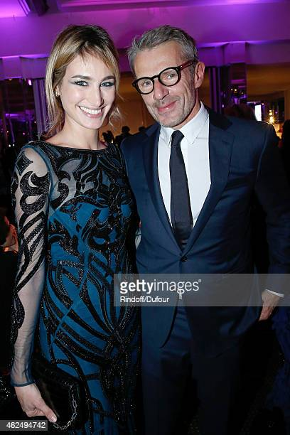 Actors Pauline Lefevre and Lambert Wilson attend the Sidaction Gala Dinner 2015 at Pavillon d'Armenonville on January 29 2015 in Paris France