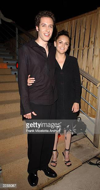 Actors Paulo Costanzo and Rachael Leigh Cook at the party for 'Scorched' at the 55th Cannes Film Festival in Cannes France May 17 2002 Photo by Frank...