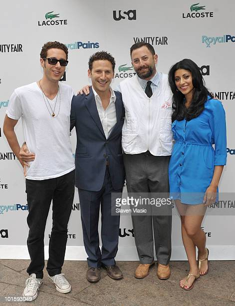 Actors Paulo Costanzo Mark Feuerstein Dr Darin Portnoy of Doctors Without Borders and actress Reshma Shetty of USA Network's Royal Pains attend the...