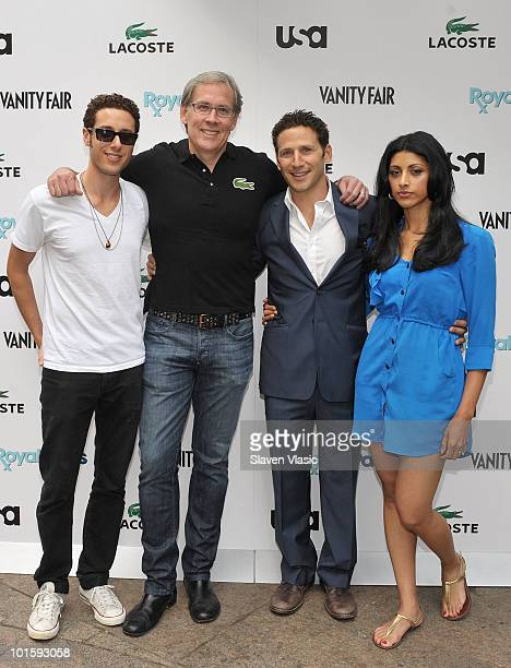 Actors Paulo Costanzo Mark Feuerstein Steven Birkhold CEO Lacoste USA and Reshma Shetty of USA Network's Royal Pains attend the Royal Pains Summer...