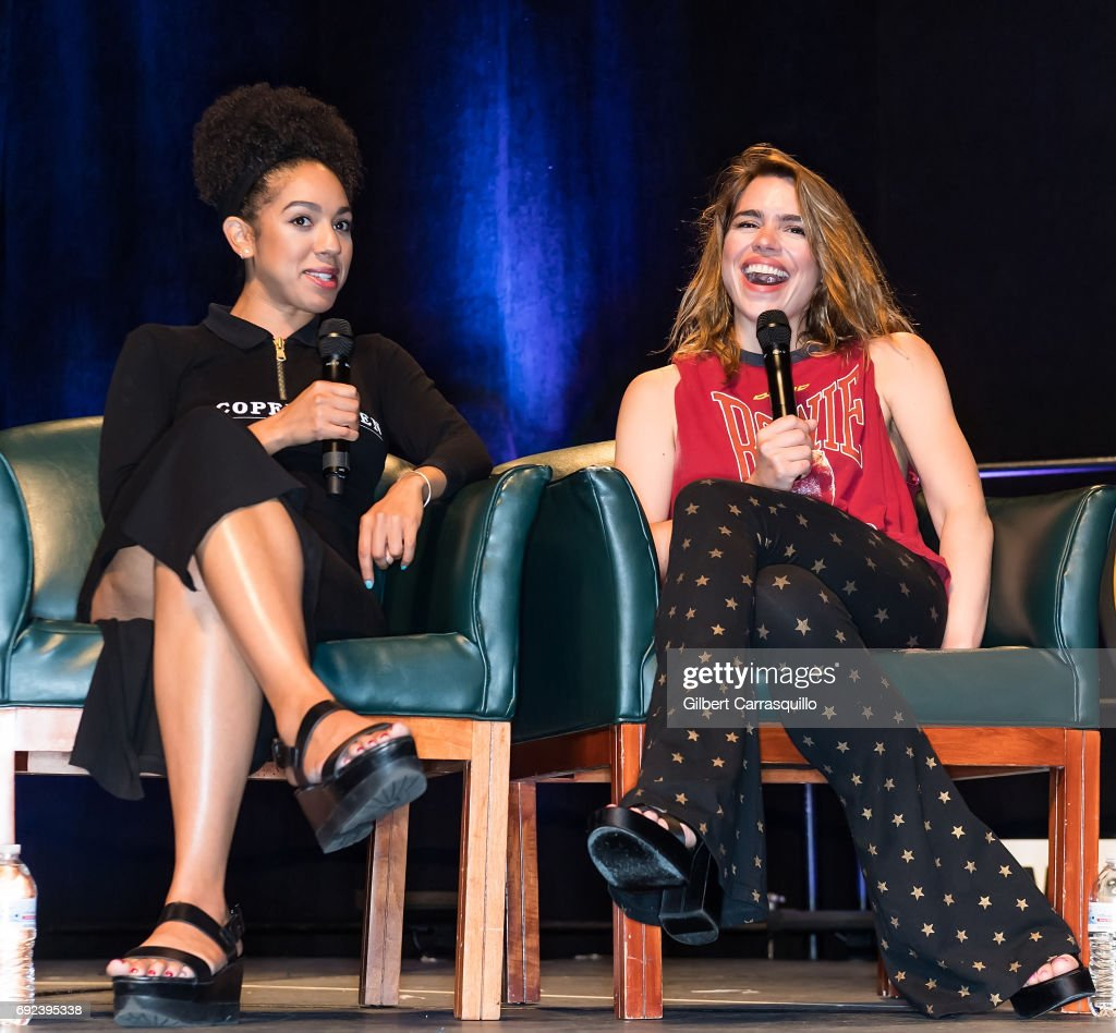Actors Pearl Mackie and Billie Piper attend Wizard World Comic Con Philadelphia 2017 - Day 4 at Pennsylvania Convention Center on June 4, 2017 in Philadelphia, Pennsylvania.