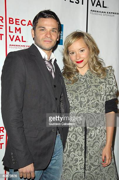 Actors Pedro Capo Rodriquez and Angelica Blandon attend the premiere of Paraiso Travel during the 2008 Tribeca Film Festival on April 26 2008 in New...
