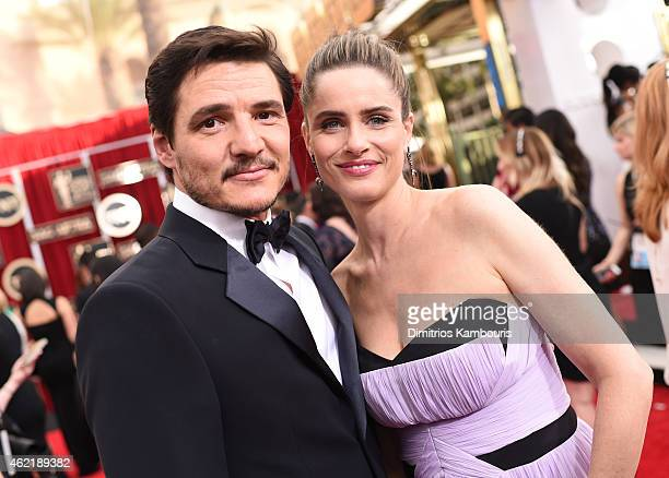Actors Pedro Pascal and Amanda Peet attend TNT's 21st Annual Screen Actors Guild Awards at The Shrine Auditorium on January 25 2015 in Los Angeles...