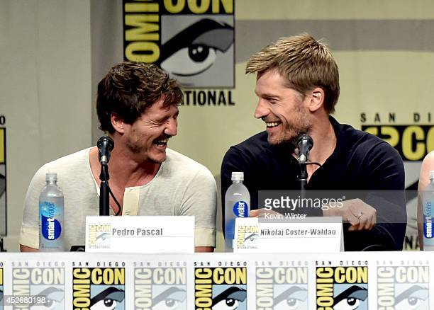 Actors Pedro Pascal and Nikolaj CosterWaldau attend HBO's 'Game Of Thrones' panel and QA during ComicCon International 2014 at San Diego Convention...