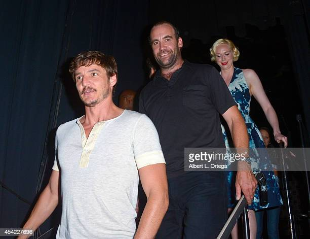 Actors Pedro Pascal Rory McCann and Gwendoline Christie HBO's 'Game Of Thrones' Panel And QA on Friday Day 2 of ComicCon International 2014 held at...