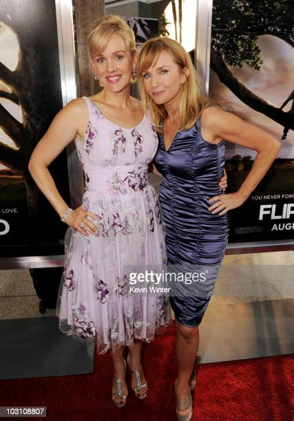 Actors Penelope Ann Miller and Rebecca De Mornay arrive at the premiere of Warner Bros 'Flipped' at the Cinerama Dome Theater on July 26 2010 in Los...