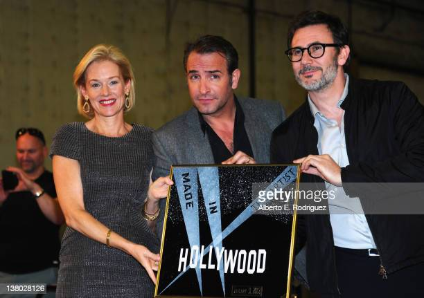 """Actors Penelope Ann Miller, Jean Dujardin and director Michel Hazanavicius attend the Inaugural presentation of the Los Angeles City Council's """"Made..."""