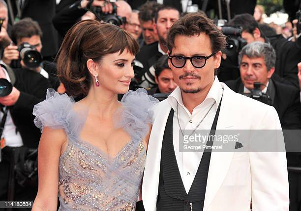 bb5fce34d Actors Penelope Cruz and Johnny Depp attend the Pirates of the Caribbean On  Stranger Tides Premiere