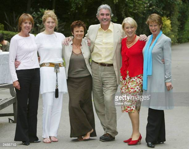 Actors Penelope Wilton Geraldine James Julie Walters John Alderton Helen Mirren and Celia Imrie take part in a photocall to promote the film Calendar...