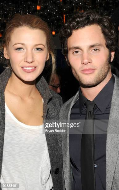 Actors Penn Badgley and Blake Lively attend the after party for the premiere of The Stepfather at the Gramercy Park Hotel on October 12 2009 in New...