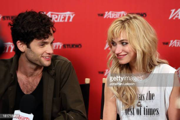 Actors Penn Badgley and Imogen Poots attend Variety Studio Presented By Moroccanoil At Holt Renfrew Day 3 Toronto on September 10 2012 in Toronto...