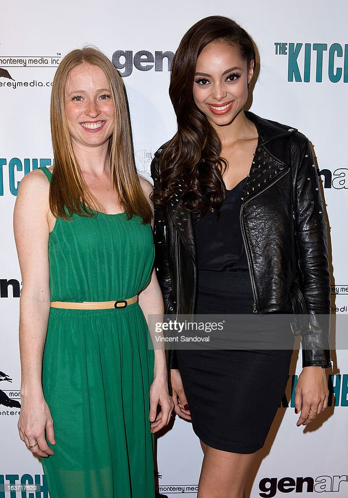 Actors Pepper Binkley and Amber Stevens attend the Los Angeles premiere of 'The Kitchen' at Laemmle NoHo 7 on March 14, 2013 in North Hollywood, California.