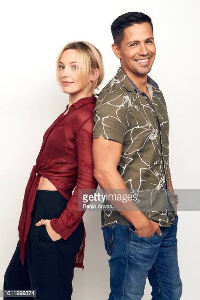 Actors Perdita Weeks and Jay Hernandez of CBS's 'Magnum PI' pose for a portrait during the 2018 Summer Television Critics Association Press Tour at...