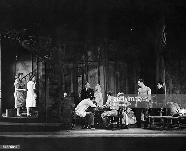 Actors perform a scene from the original production of A Streetcar Named Desire by Tennessee Williams
