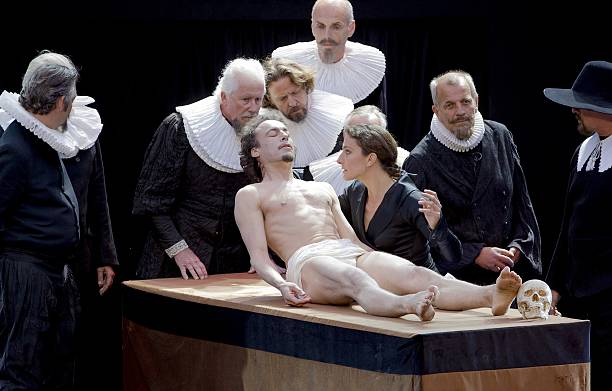 Actors Perform A Scene Of The Anatomy Lesson Of Dr Pictures Getty
