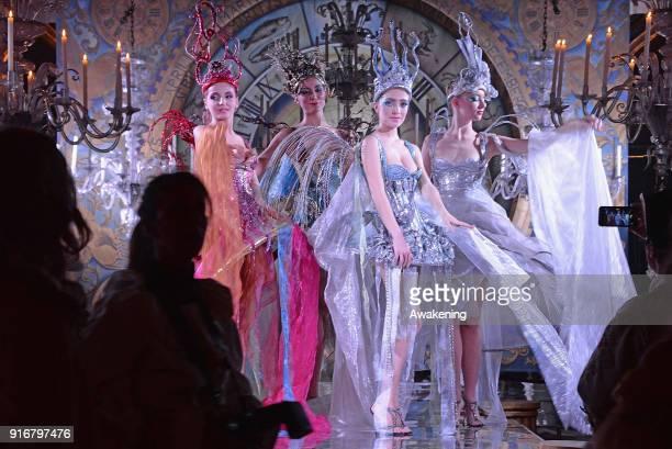 Actors perform at Palazzo Pisani Moretta during the annual Ballo del Doge on February 10 2018 in Venice Italy The Ballo del Doge created by fashion...