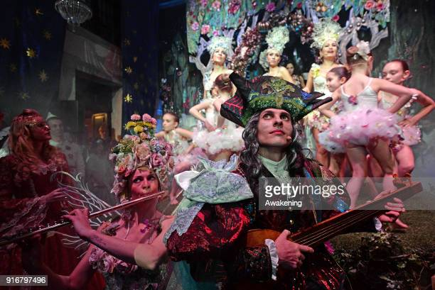 Actors perform at Palazzo Pisani Moretta during the annual Ballo del Doge on February 10, 2018 in Venice, Italy. The Ballo del Doge, created by...