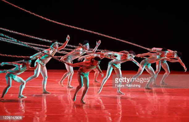 """Actors perform dance epic """"Yellow River"""" at Ulanqat Theater in Hohhot, Inner Mongolia, China, Nov. 21, 2020.PHOTOGRAPH BY Costfoto / Barcroft Studios..."""