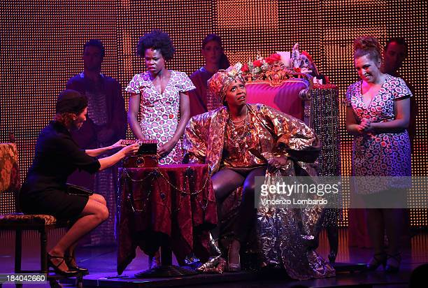 Actors perform during Ghost The Musical opening night at the Teatro Nazionale on October 10 2013 in Milan Italy