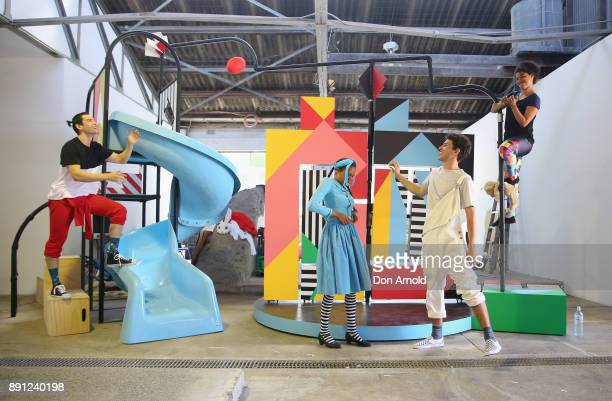 Actors perform during rehearsals for Alice in Wonderland on December 13 2017 in Sydney Australia
