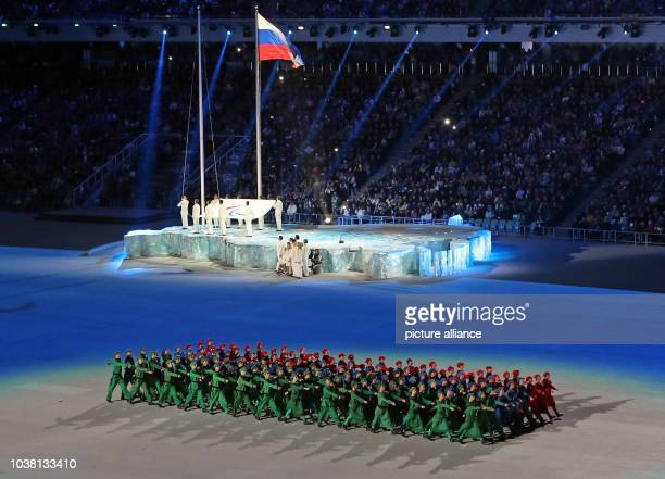 Actors perform during the Opening Ceremony at Fisht Olympic Stadium at the Sochi 2014 Paralympic Winter Games, Sochi, Russia, 07 March 2014. Photo:...