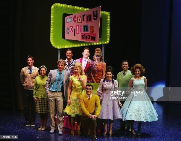 Actors perform during the opening night of the Broadway musical Hairspray at the Luxor Hotel Casino February 15 2006 in Las Vegas Nevada